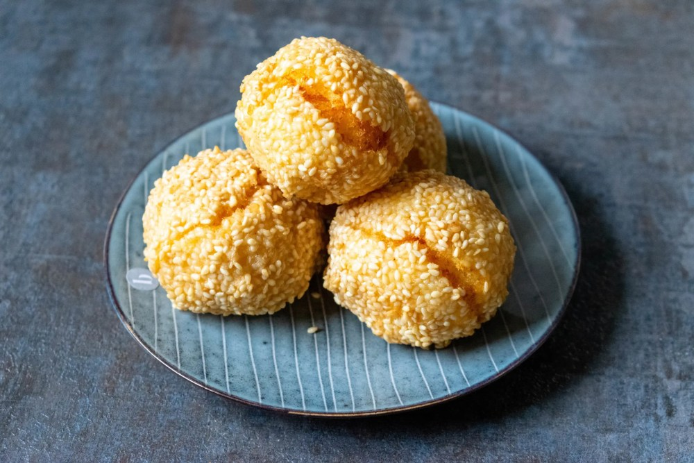 Kartoffelbällchen mit Sesam