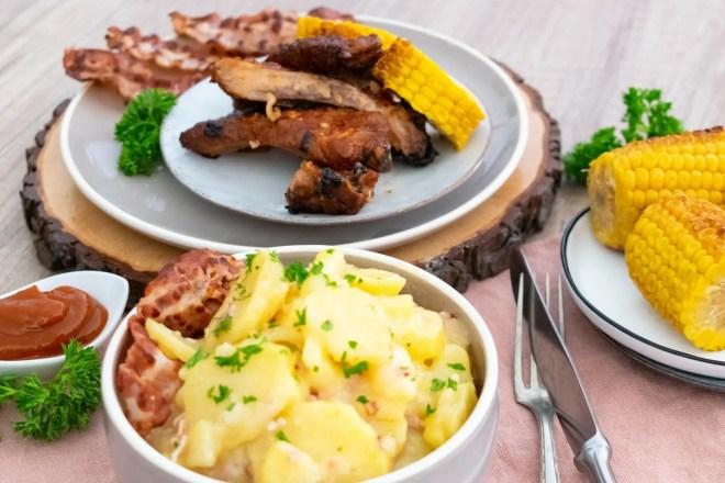 Kartoffelsalat aus Alaska mit Spare Ribs