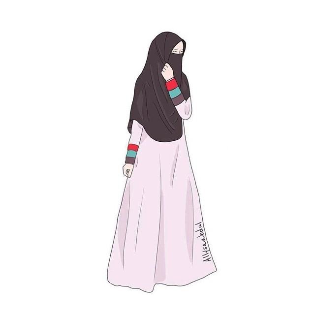 Gambar Kartun Muslimah Bercadar Anime Hijab Sahabat Best Hijab Style