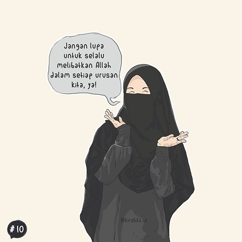 Muslimah Cantik Gambar Orang Bercadar Animasi