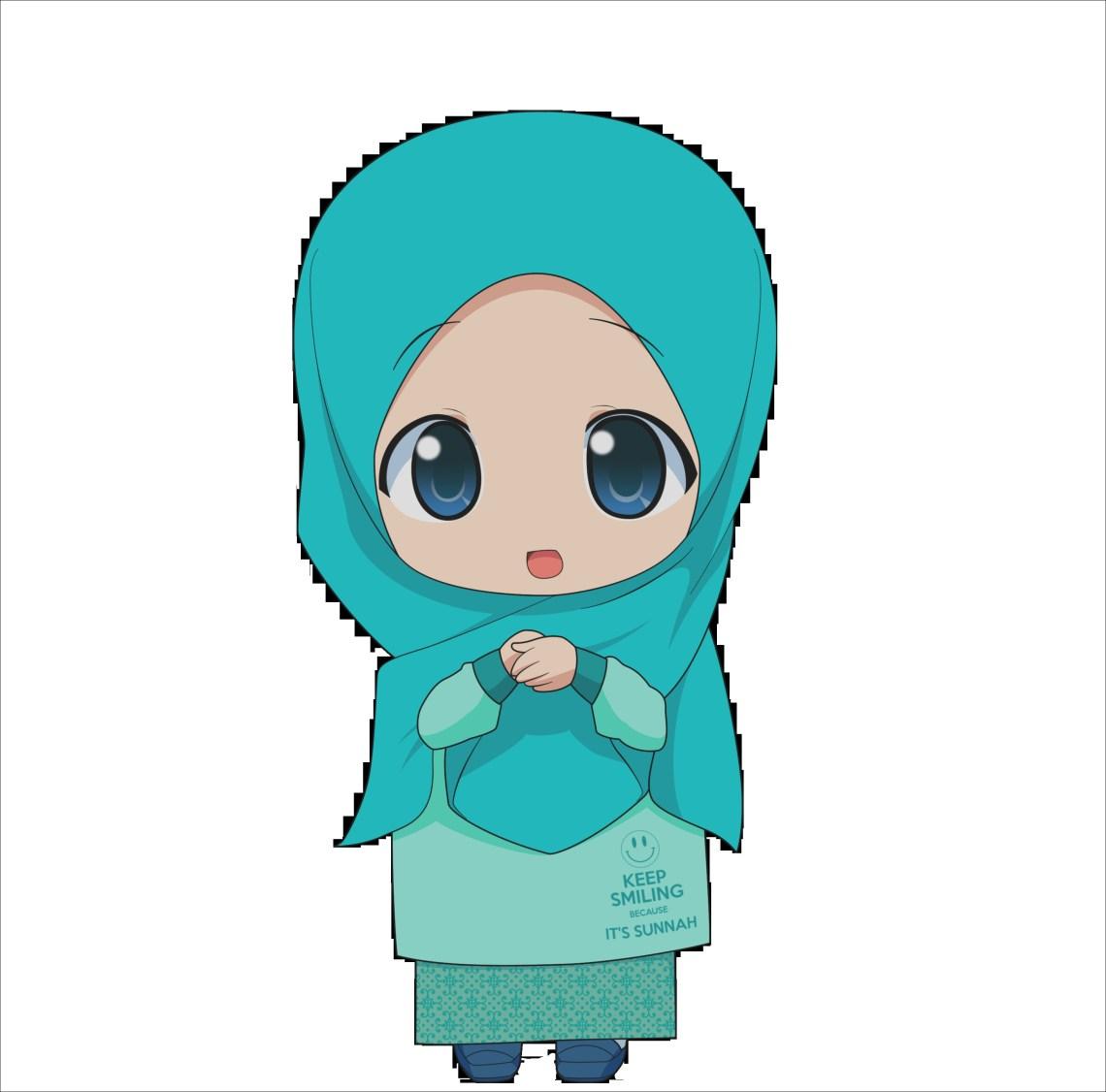 21 Gambar Kartun Muslimah Lucu Unik Imut & Terbaru