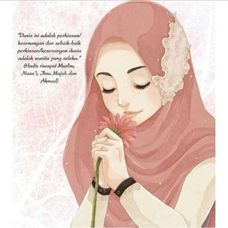 21 Gambar Kartun Muslimah Lucu Unik Imut Terbaru