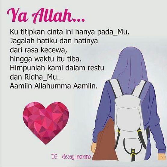 Kartun Muslimah Jatuh Cinta Cinta Sejati kepada Allah
