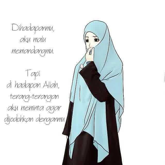 24 Gambar Kartun Muslimah Cantik Jatuh Cinta Kartun Muslimah