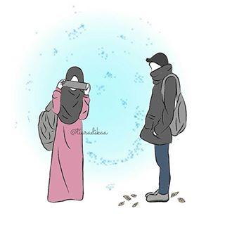 Gambar Kartun Muslimah Jatuh Cinta  Kartun Muslimah