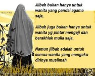 Kata-kata Muslimah tentang Jilbab