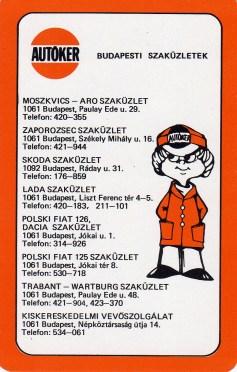 AUTÓKER - 1989