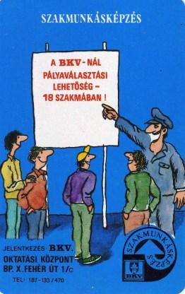 BKV - szakmunkásképzés - 1988
