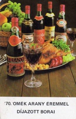 ÁGKER - díjazott borok - 1986