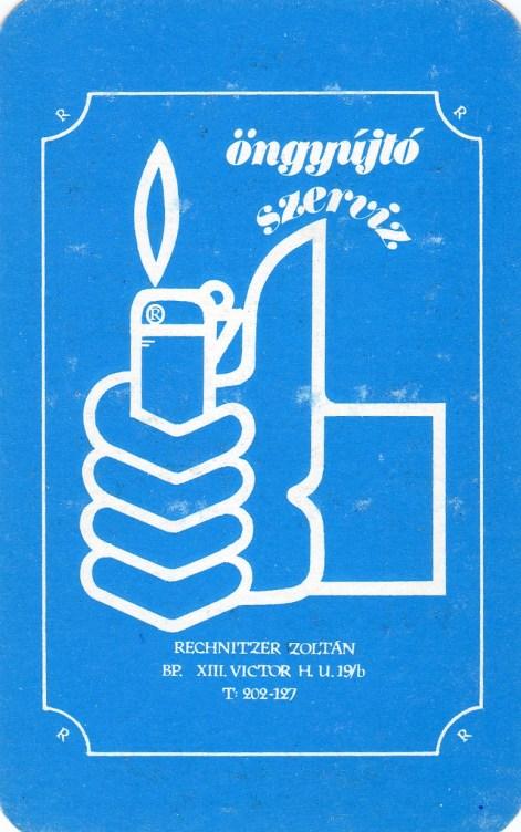 Öngyújtó Szetrvíz (Rechnitzer Zoltán) - 1983