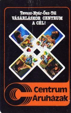 CENTRUM Áruházak - 1984