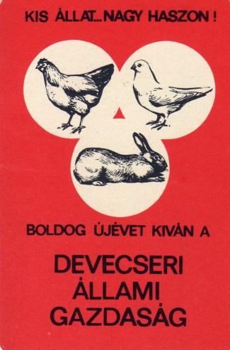 Devecseri Állami Gazdaság - 1970