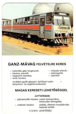 GANZ-MÁVAG Munkaerőgazdálkodási Osztály - 1986