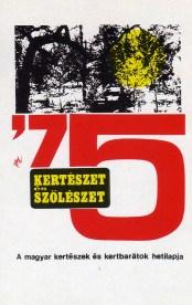 Kertészet és Szőlészet (hetilap) - 1975