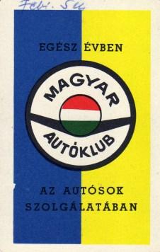 Magyar Autóklub - 1970