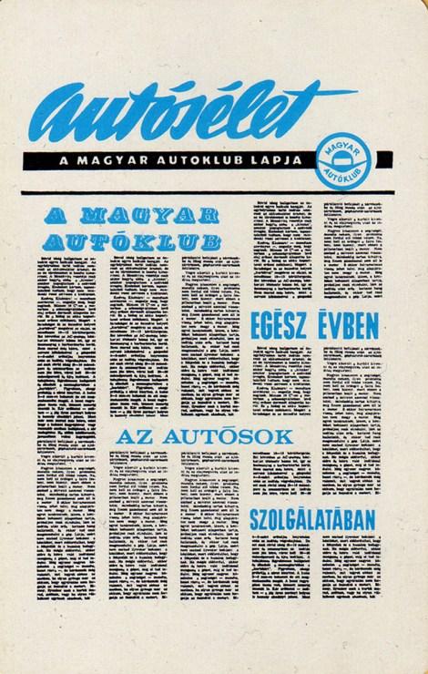 Magyar Autóklub (Autosélet - újság) - 1971