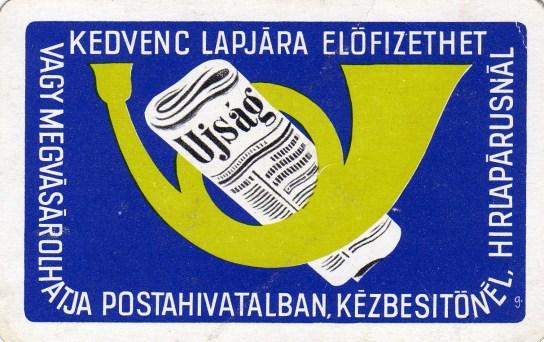 Magyar Posta (újság-előfizetés) - 1972