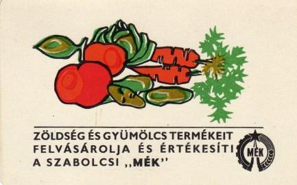Szabolcsi MÉK (zöldség, gyümölcs) - 1970