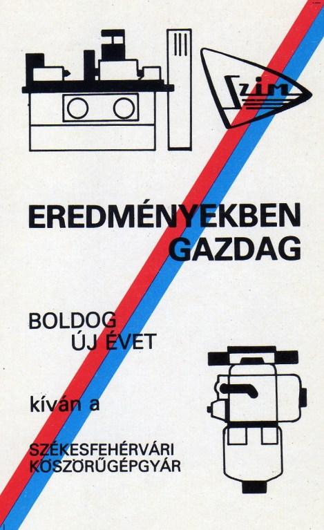Székesfehérvári Köszörűgépgyár - 1981