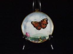 西ドイツ、蝶紋様皿 10cm