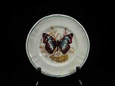 フランス、蝶紋様皿 16cm