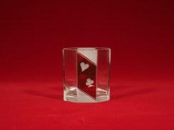 グラス (H8.4cm x D7.6cm)