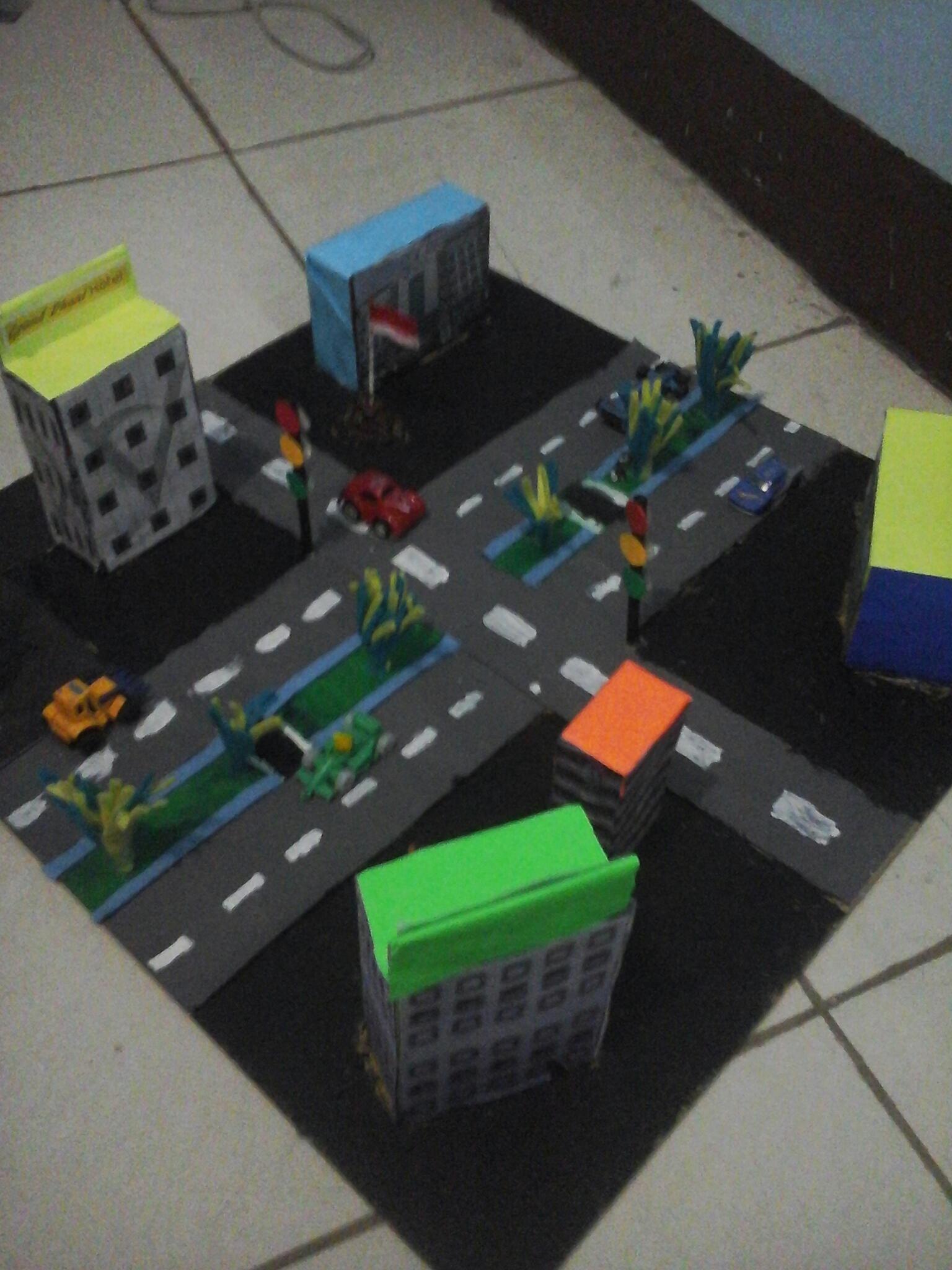Miniatur Kota Dari Kardus : miniatur, kardus, Membuat, Maket, Karya