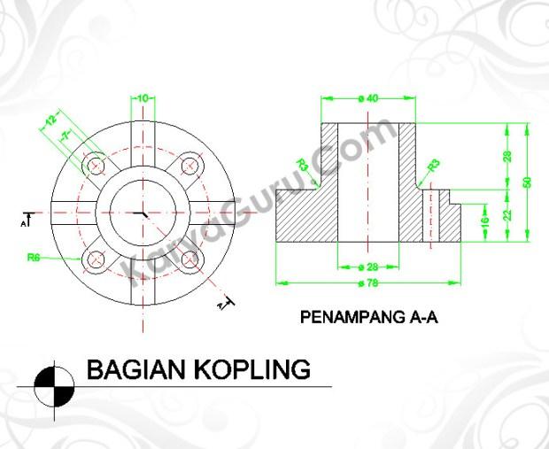 Menggambar Part Mesin dengan Software CAD Gratisan
