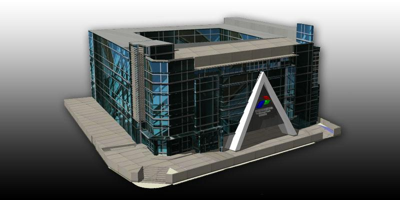 Draft Design 3D Modeling Gedung di Dumai  KARYAGURU CENTER