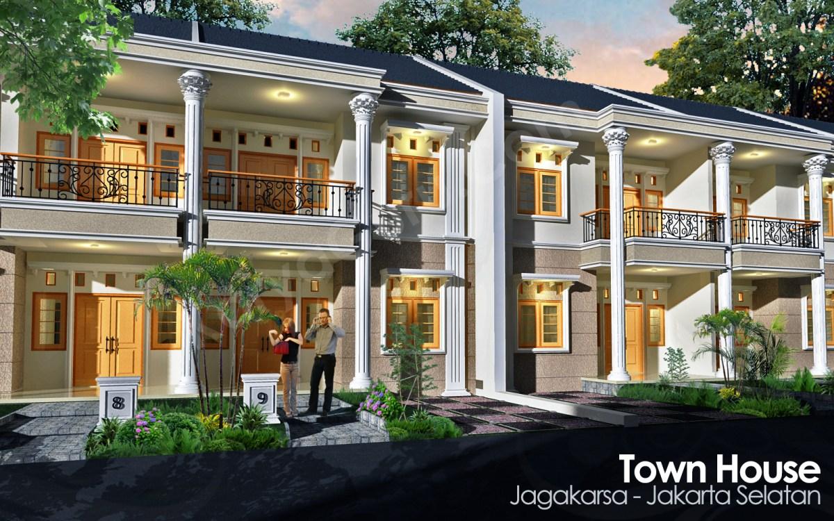 Desain TownHouse 2 Lantai  KARYAGURU CENTER