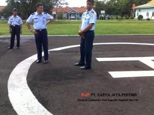 Pengaspalan Helipad TNI AU Cirebon, Kontraktor pengaspalan, jasa pengaspalan, jasa aspal hotmix