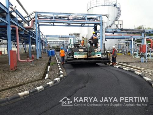 Proyek Pengaspalan Terbaru KARYA JAYA PERTIWI, Pengaspalan Area Pabrikl PT. Gajah Tunggal cilegon Banten, Karya Jaya Pertiwi