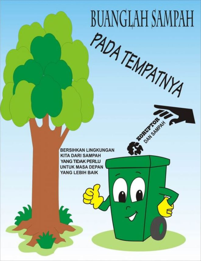 Blog Pendidikan Contoh Poster Lingkungan Hidup Yang Mudah Digambar