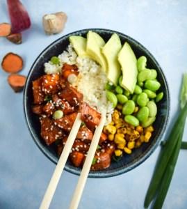Teriyaki Cauliflower Rice Bowl by Yup, It's Vegan