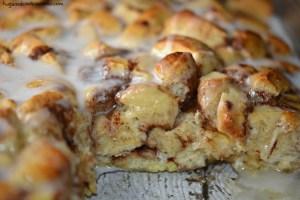 Cinnamon Roll Casserole by Hugs & Cookies