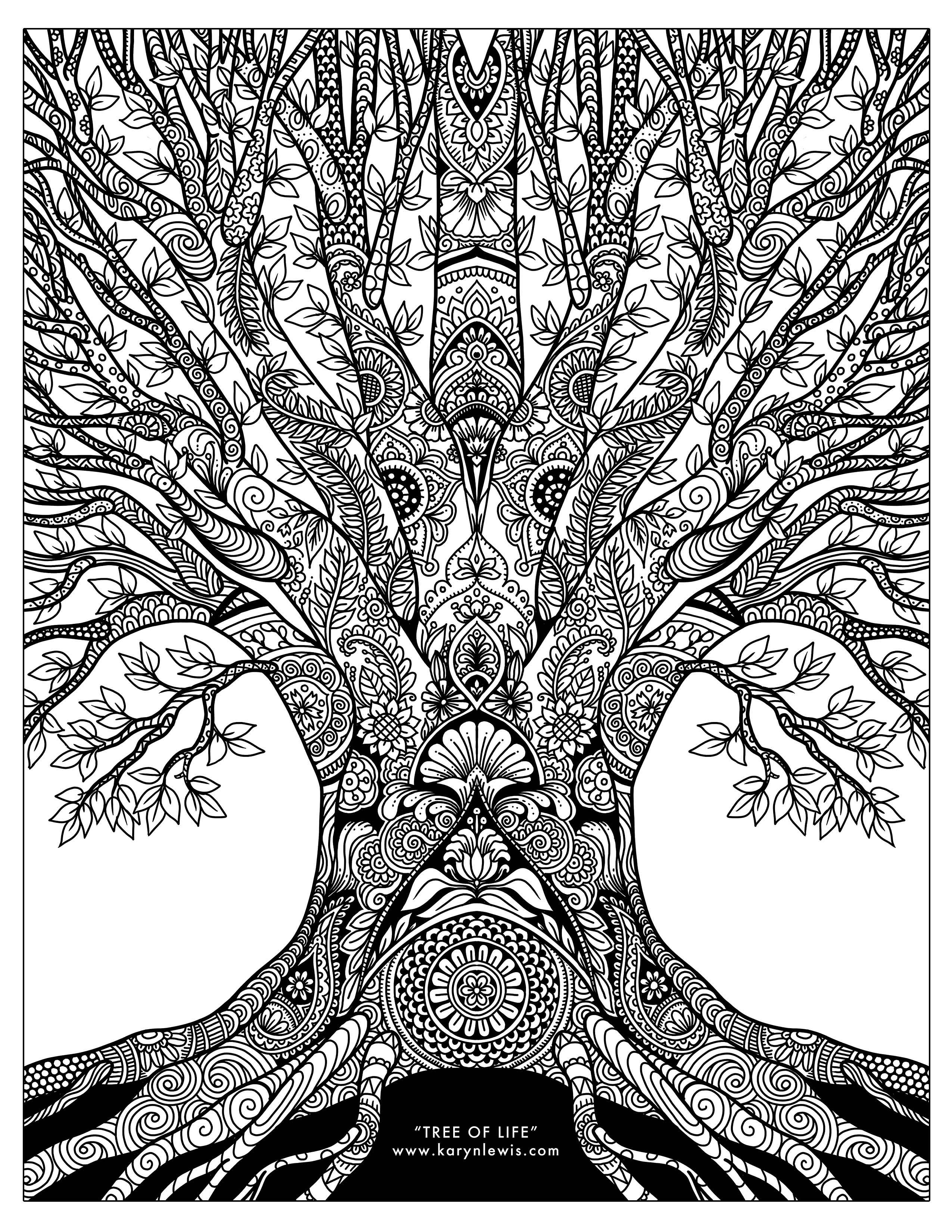 Tree Of Life Coloring Pages : coloring, pages, Life