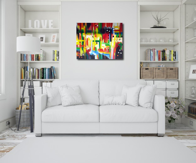 abstract painting mock up