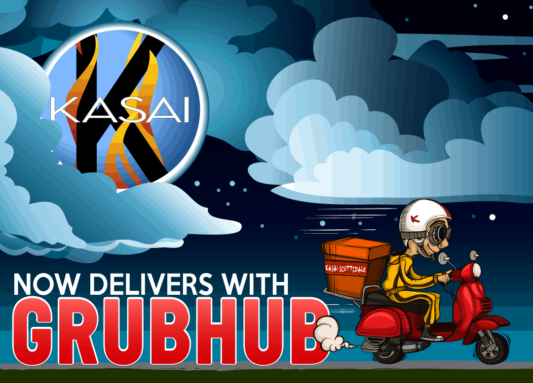 Kasai Now Delivers with GrubHub