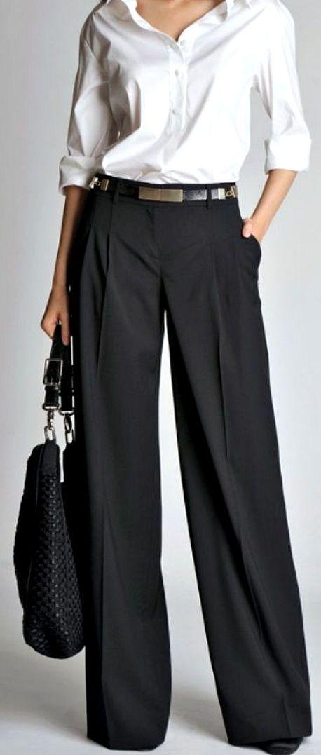 szerokie spodnie do pracy