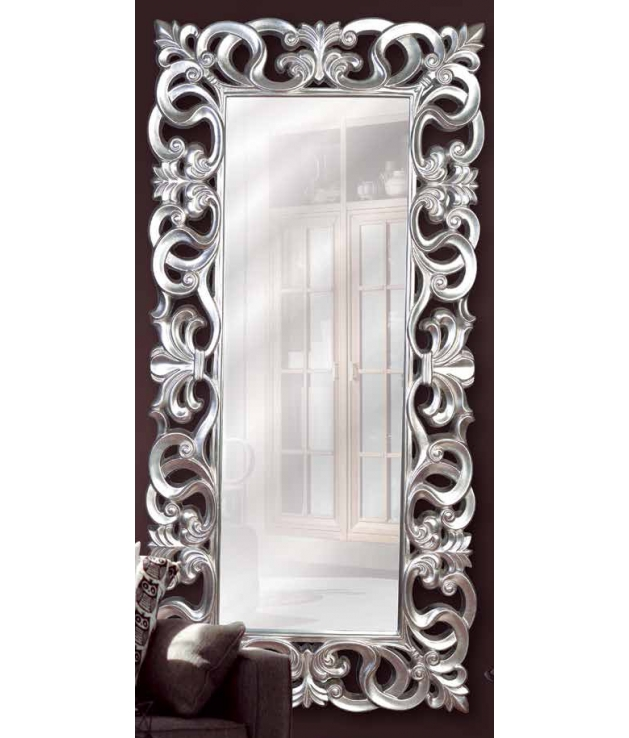 Comprar Espejo marco de aluminio diseo arabescos plata vieja