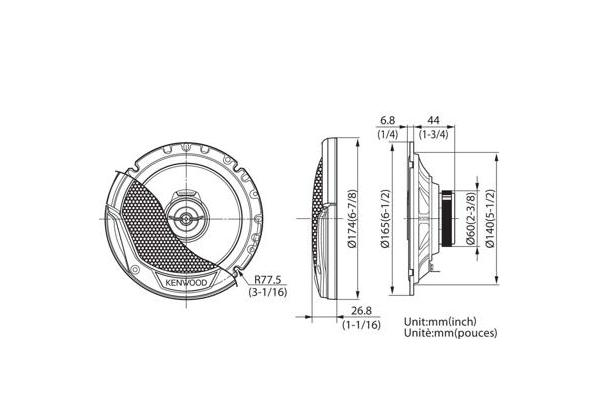Universels • KFC-E1765 Spécifications techniques • KENWOOD