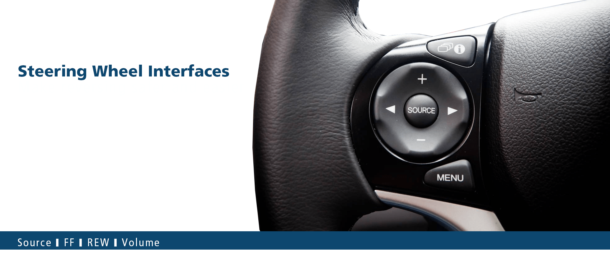 hight resolution of steering wheel control interfaces