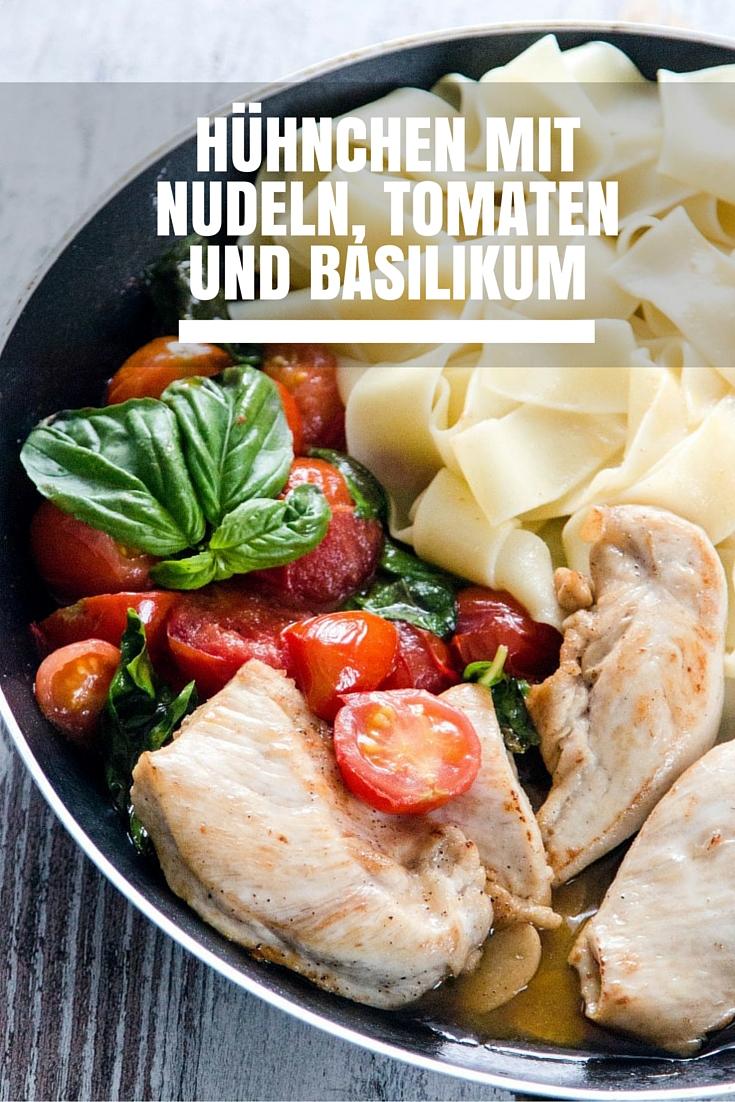 Hühnchen-mit-Nudeln-Tomaten-und-Basilikum-10