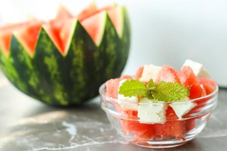 Wassermelone Feta Salat in 5 Minuten