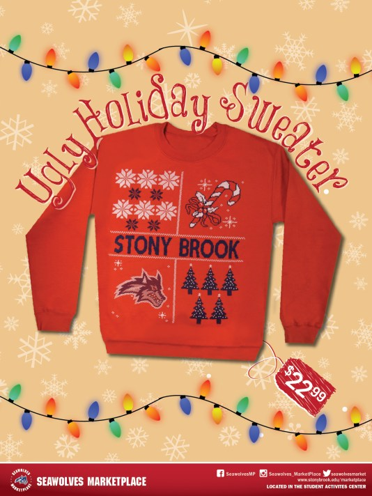 Seawolves Holiday Sweater Promotional Poster