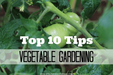 Top 10 Tips @Vegetable Gardening on time2saveworkshops.com