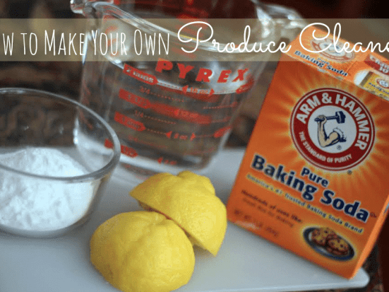 How to make your own produce cleaner