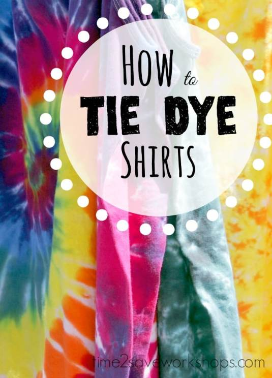 how to tie dye shirts