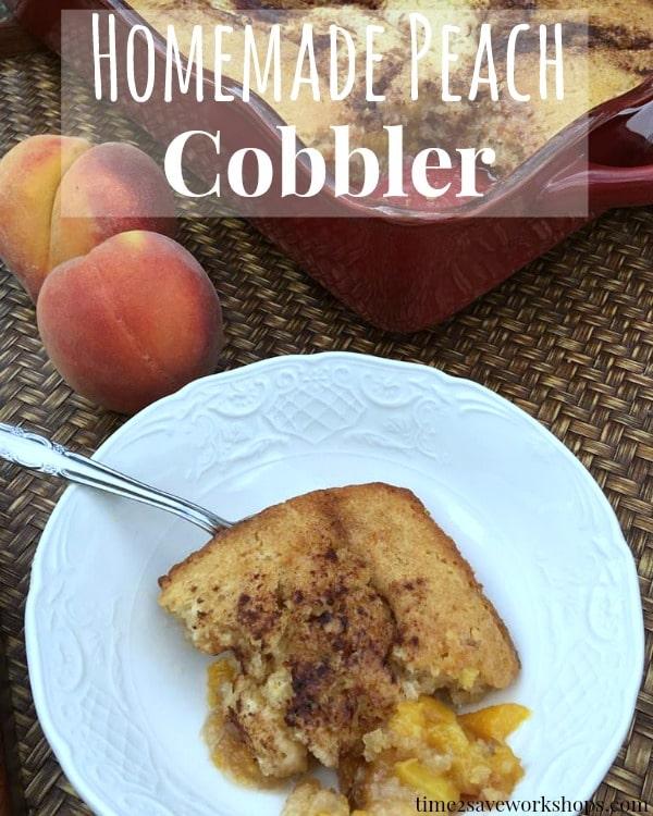 homemade peach cobble