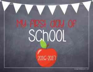 kaseytrenum chalk board first day of school